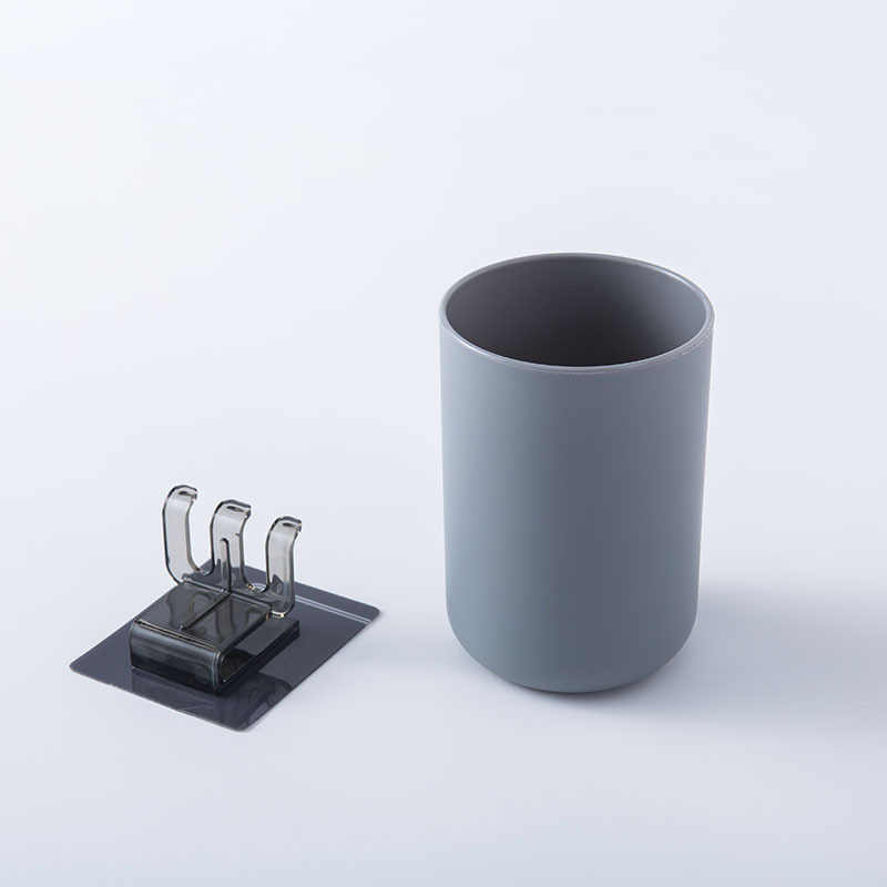 ติดผนังยาสีฟันผู้ถือแปรงสีฟัน + ถ้วยเครื่องโกนหนวดชั้นวางพลาสติกแปรงฟัน Dispenser Organizer อุปกรณ์ห้องน้ำ