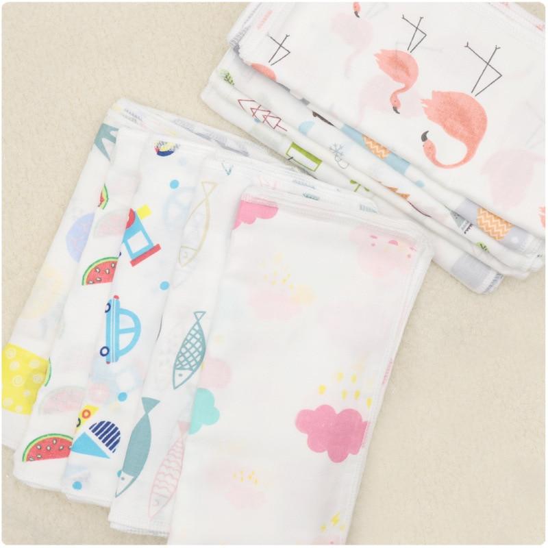 10PCS Baby Feeding Towel Teddy Children Nursing  Handkerchief Dot Bear Gauze Chart Small Bunny Printed