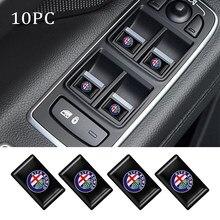 10 pçs epóxi 3d estilo do carro emblema emblema adesivo decalques para alfa romeo 159 147 156 166 giulietta giulia mito acessórios do carro
