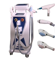 Factory price 4 in 1IPL 360 magneto/RF/ND yag laser for black carbon doll skin peeling hair removal and removal tattoo machine