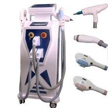 Factory price 4 in 1IPL 360 magneto/RF/ND yag laser for black carbon doll skin peeling hair