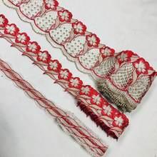 Ruban de Garniture en dentelle de 10yards, tissu de Garniture africaine pour femmes, décor de Guipure de col de dubaï, accessoires en tissu