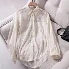 LYNETTE'S CHINOISERIE printemps automne Design Original femmes haute qualité Vintage broderie dentelle chemises - 5