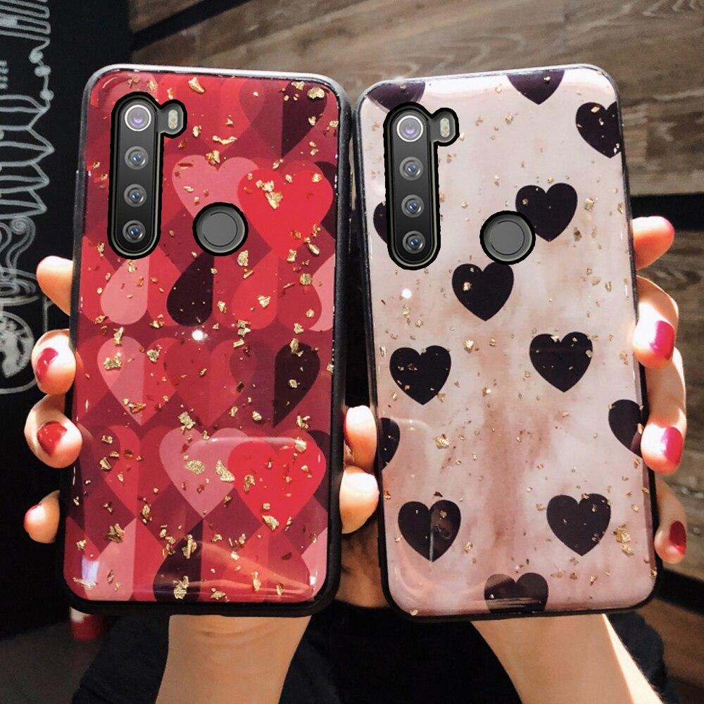 Amore morbido glitter posteriore del telefono etui, coque, copertura, per il caso di xiaomi redmi note 8 t 8 t note8 per xiomi xaomi ksiomi del silicone accessori