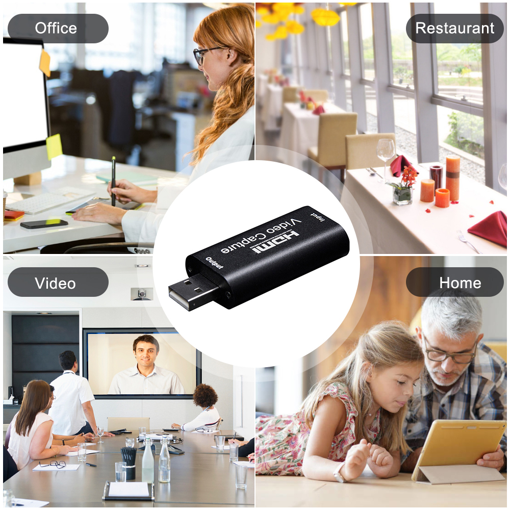 1080P HDMI To USB 2.0 HD Video Audio Capture Card Standard AWG26 Cable Support Windows Android and MacOS For Teaching Recording 5