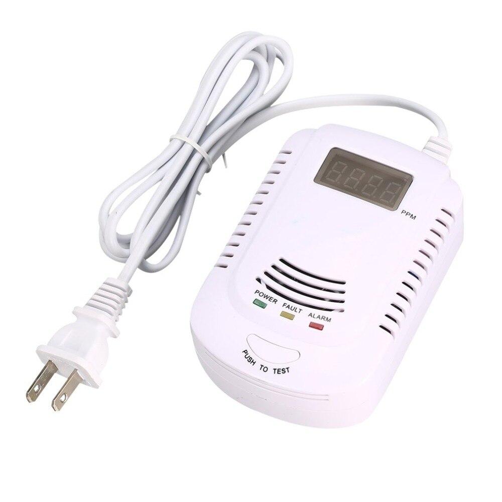Детектор горючих газов датчик сигнализации LPG анализатор природного газа определение утечки тестер звуковой светильник сигнализация охранная сигнализация|Газоанализаторы|   | АлиЭкспресс