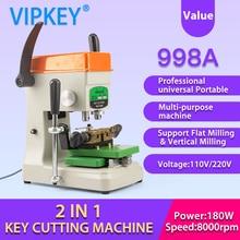 GOSO 998A professional universal Portable Flat Vertical key cutting copy machine  locksmith tools duplicate key machine