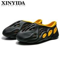 Summer Men's Sandals Slip On Breathable Water Beach Jelly Shoes Fashion Lightweight Yzy Slides Foam Run Men Clogs Big Size 40-45 1