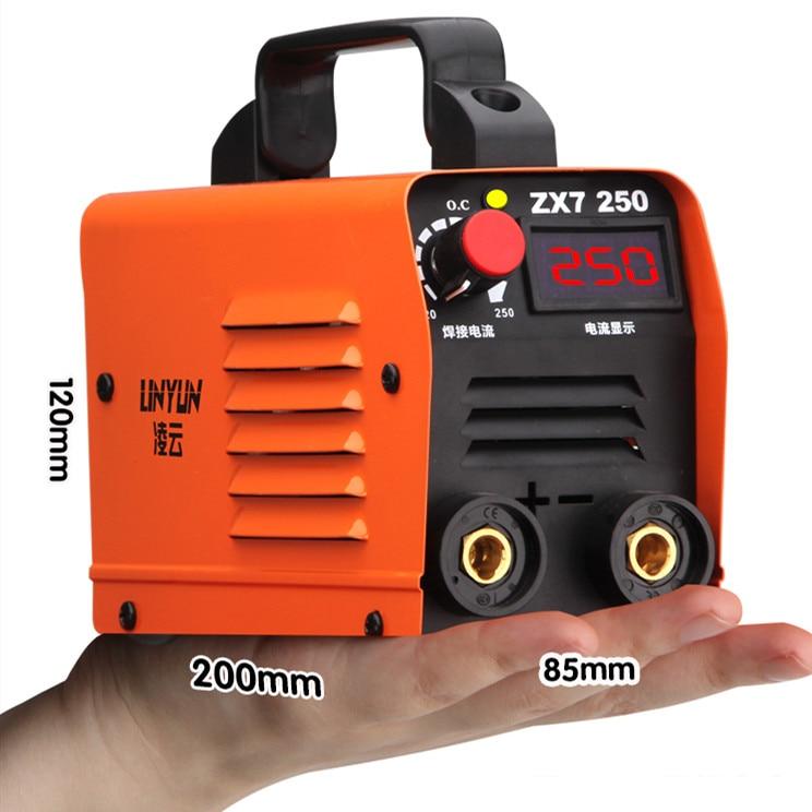 250A 110-250V LED Display Welding Machine Compact Mini MMA Welder Inverter Welding Semiautomatic