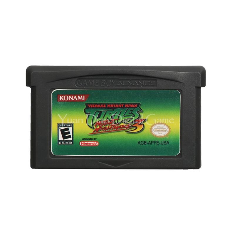 For Nintendo GBA Video Game Cartridge Console Card Teenage Mutant Ninja Turtles 3 English Language US Version