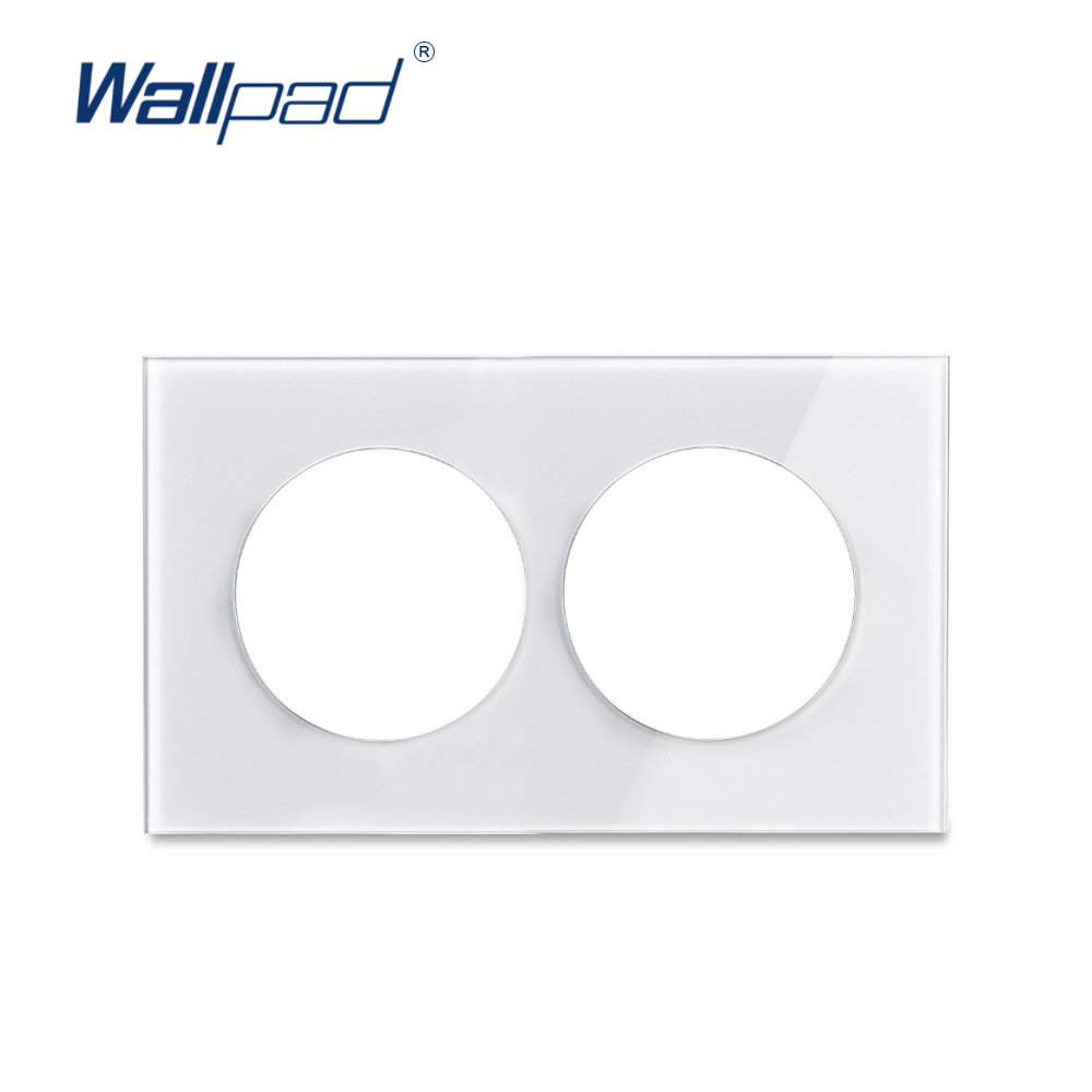 Wallpad Double Tempered Glass Panel Only 146*86mm White And Black Round Circle