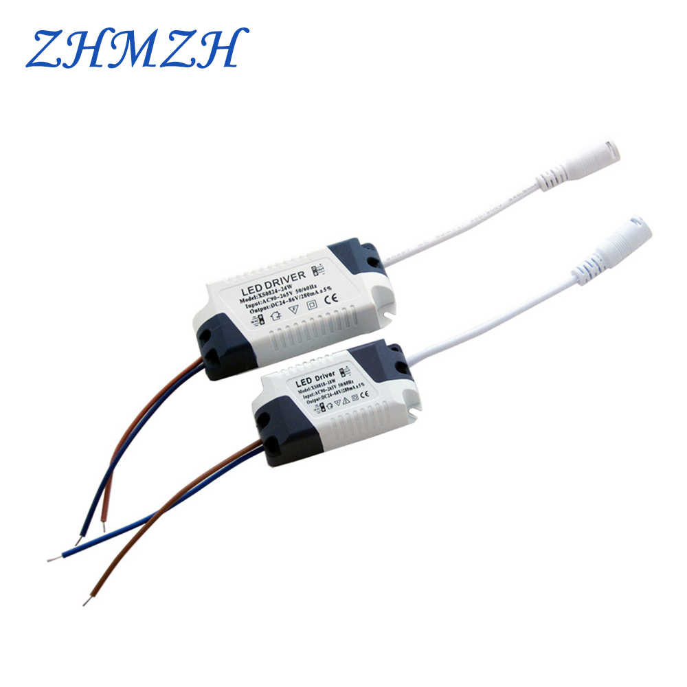 AC180-240V Constant Current DC LED Drivers 8-18W 8-24W Constant Current LED Power Supplies with DC Female Socket 280mA Drivers
