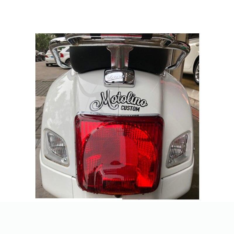 VRS EVOLUTION Motorcycle Frame Moto Scooter Vespa Bike Helmet Metal Decal