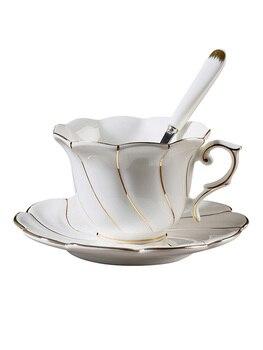 White Ceramic Coffee Cup Saucer Set Textured Porcelain Coffee Tea Cup Handmade Ceramic Espresso Cups Porcelain Tea Cup Sets E8