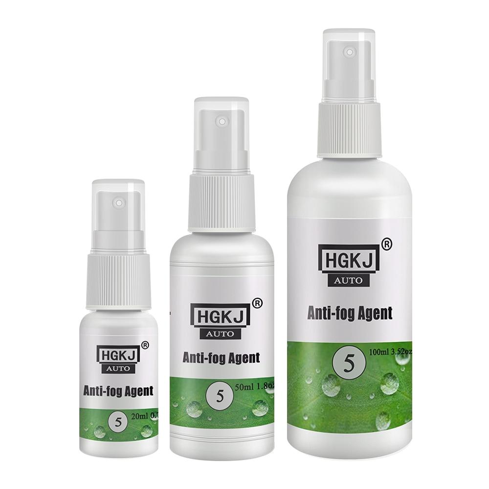 Hgkj anti névoa spray agente para vidro, janela dianteira do automóvel, espelhos, capacete, óculos de proteção