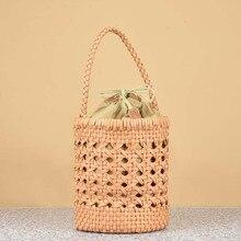 Genuine Leather Weaving Handbag Top Quality Soft Cowskin Woven Shopping