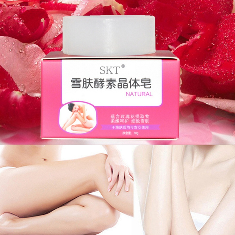 Handmade Crystal Soap Whitening Soap Dilute Melanin Brighten Skin Tone For Armpit Private Part 50g Hot
