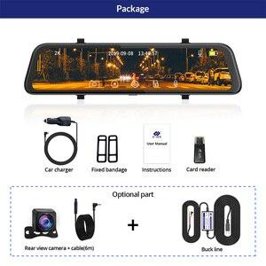 Image 5 - E ACE carro dvr fhd córrego mídia espelho retrovisor 2 k + 1080 p gravador de vídeo lente dupla câmera traço com câmera de visão traseira registrador