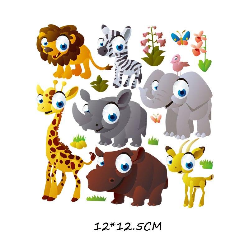 Мультяшный пони, единорог, динозавр, железная нашивка, теплопередача, одежда в полоску, футболка для мальчиков и девочек, сделай сам, волшебная наклейка на заказ - Цвет: ZT0775
