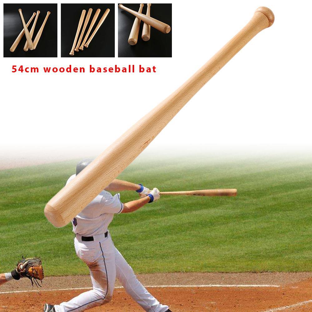 1 шт., деревянные летучие мыши, бейсбольная летучая мышь, спортивные занятия, сильная летучая мышь, для взрослых, для фитнеса, на открытом воздухе, твердая игра