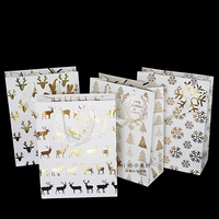 navidad 2019 christmas decorations for home gift bag snowflake elk paper bags for gifts пакеты подарочные gift bags with handles