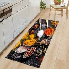Küche Teppich Schlafzimmer Wohnzimmer Flur Boden Teppich Hause Anti-slip Eingang Fußmatte 3D Muster Dekorationen Nacht Matte