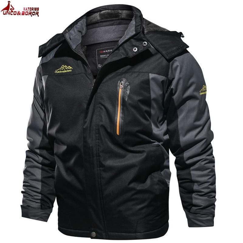 Winter Jacket Men 7XL 8XL 9XL Thick Warm Parka Fleece Fur Hooded Military Waterproof Jacket Man Coat Windbreaker Overcoats