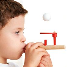 Blowing Training Stress Ball Toy Game Suspended Ball Classic Nostalgic Gift Educational Toy For Children