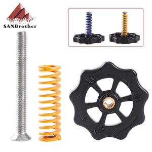 Juego de nivelado de muelles para cama caliente, tuerca de ajuste + resortes + M3 * 40, Kit de calefacción para impresora 3D Ultimaker 2