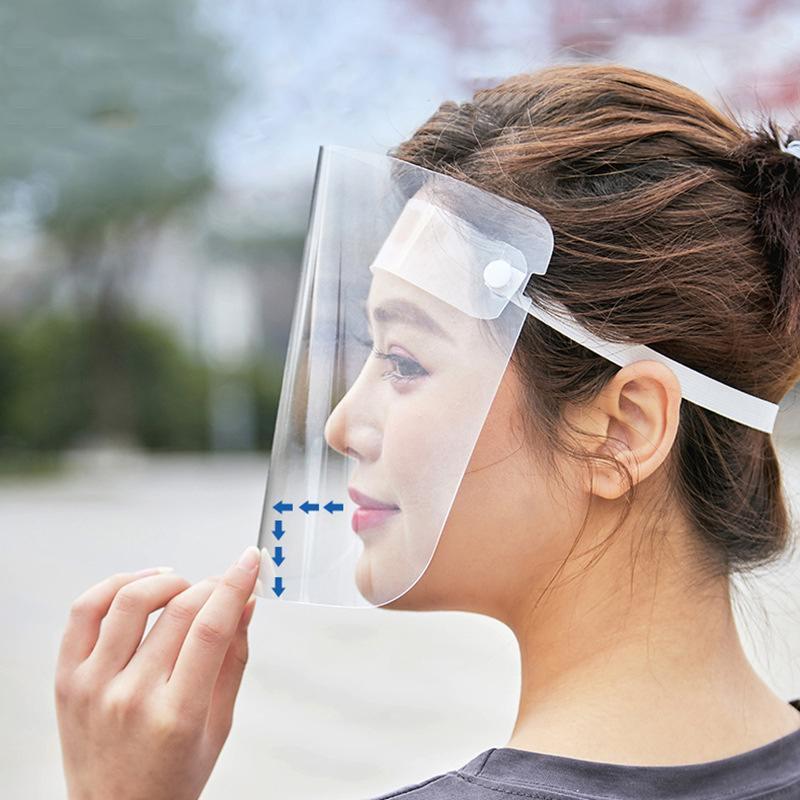 Protective Face Mask Shield Anti-foaming Splash Proof AntiFog Transparent Safety Masks Protective Helmet Hat Work With All Masks