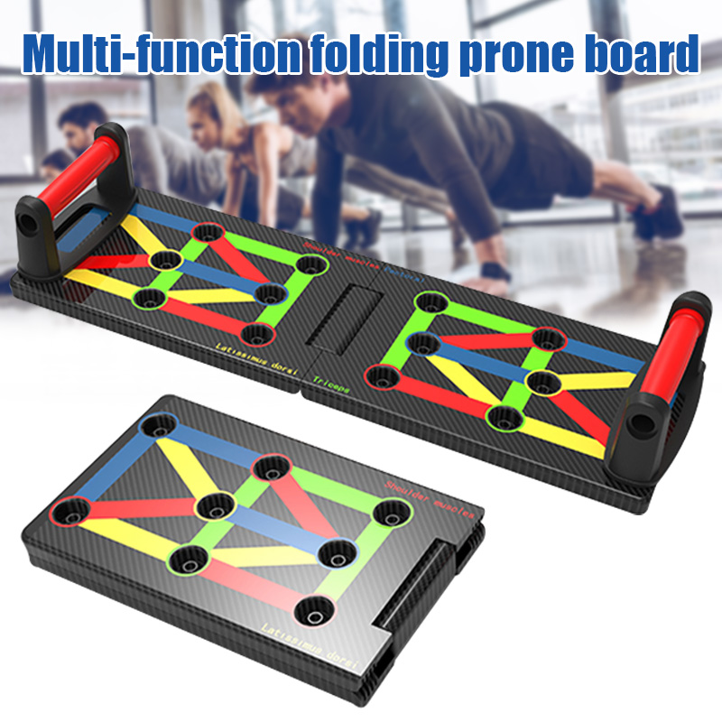 17 IN 1 Push Up Rack Board System Comprehensive Fitness Exercise Workout Pushup Stands Complete Training Gym Exercise Men