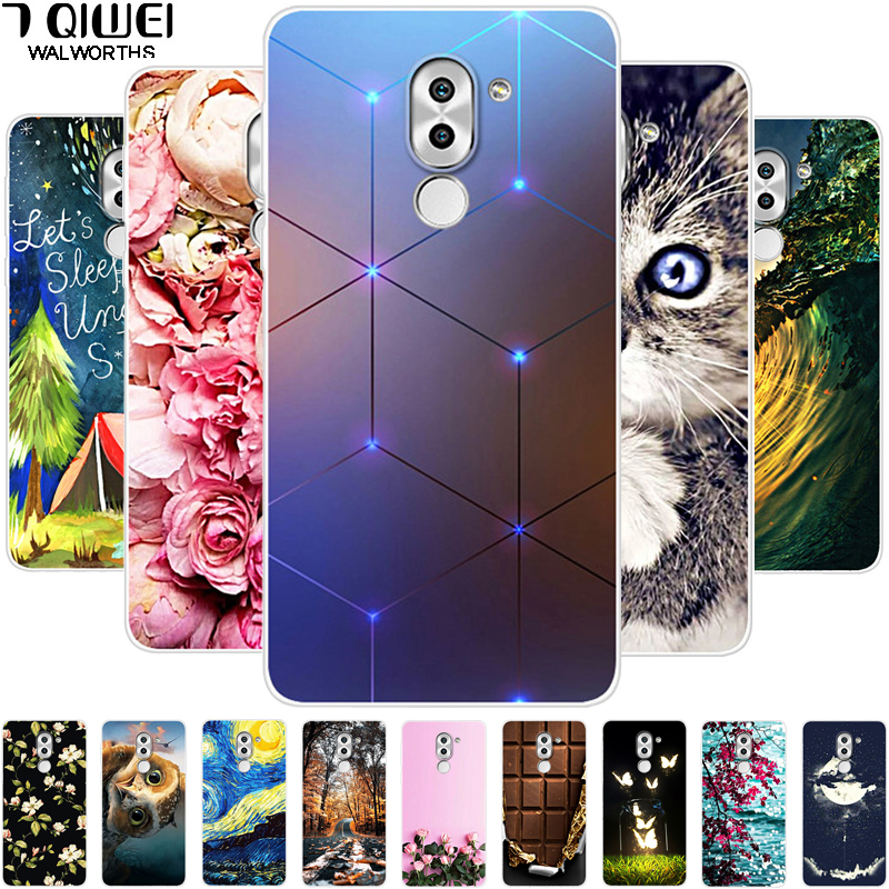 Για Huawei Honor 6X Case Honor 6 X Silicone Soft Back Cover for Funda Huawei GR5 2017 Case TPU BLL-L21 Phone Cases Painting Para