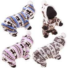 Dog Sweater Pet Dogs Puppy-Hoodile Winter Warm Coat for Small Large Double-Sided Deer