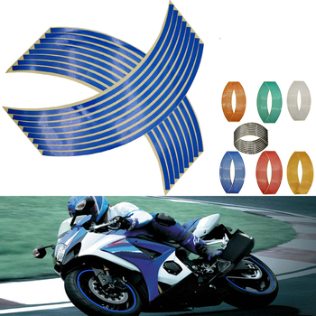 16Pcs Motorcycle Car Wheel Tire Stickers Reflective Rim Tape Moto Auto Decals For Honda NC700X nc 700s 700 x PCX 125 150 image