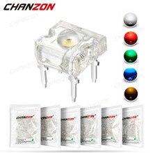 Lampe à Diode électroluminescente Piranha, 100 pièces, 3mm, blanc, rouge, vert, bleu, jaune, couleur vive, indicateur 3V, ampoule à Circuit DIP PCB, DIY, LED