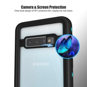 Image 4 - IP68 sualtı su geçirmez telefon kılıfı Samsung not 10 + artı S10 S8 S9 artı dalış su geçirmez standı durumda Galaxy not 8 9