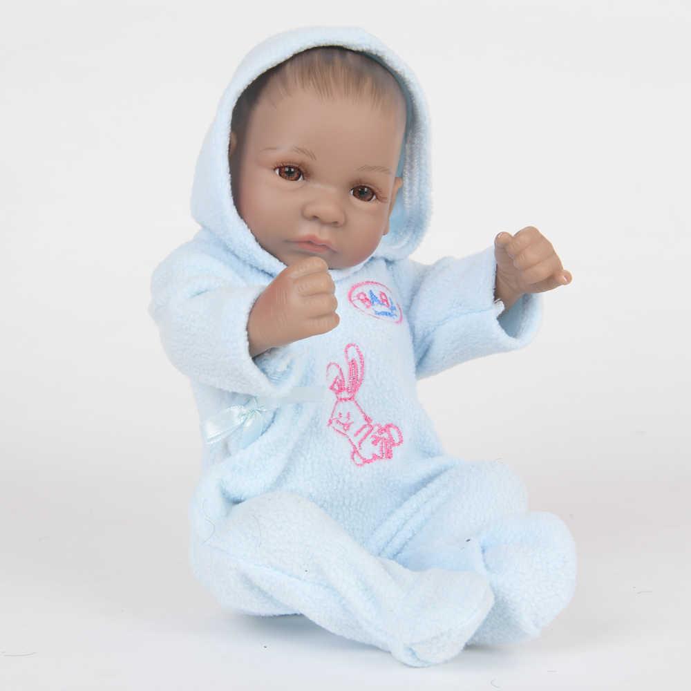 25 cm 10 Polegada mini bebe reborn bebê bonecas de silicone cheio vinil reborn bebês lifelike mini reborn brinquedo da criança playmate presentes natal