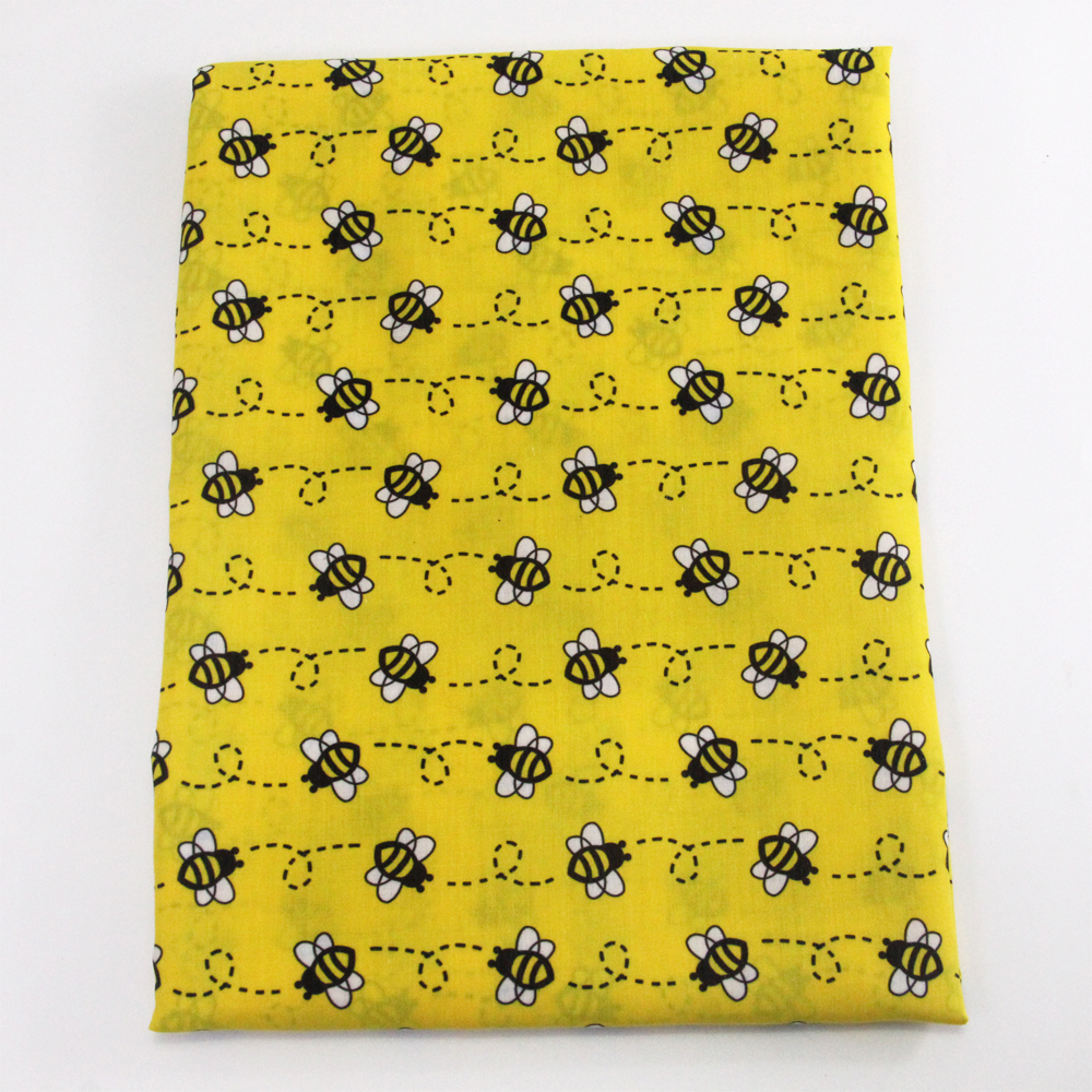 David accessories 50*140cm Bee Polyester cotton fabric for Tissue Kids Bedding home textile for Sewing Tilda Doll,1Yc9122(China)
