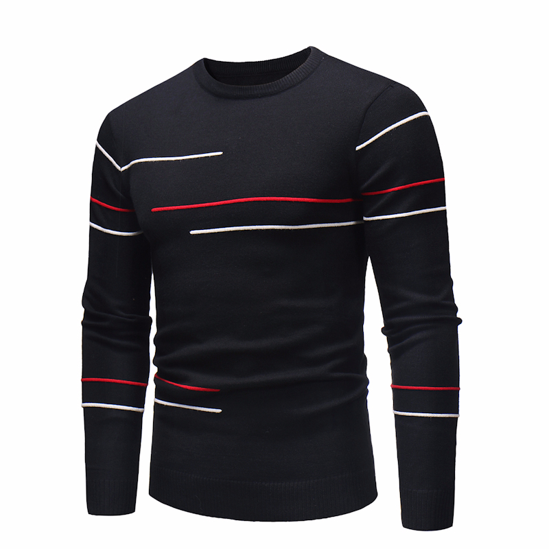 Oufisun Men Autumn Causal O-Neck Hombre Striped Sweater Pullovers Men For Teens Brand New Oversized Knitwear Casual Sweaters Men