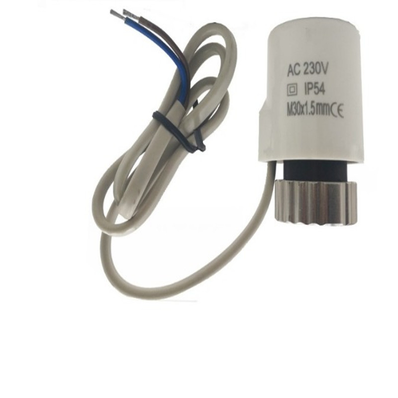 230v Normally Open  Electric Thermal Actuator For Manifold Underfloor Heating Valve Calefaccion Suelo Radiante Actuador