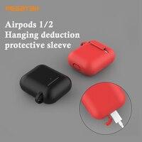 Funda de airpods de silicona para Apple Airpods 1/2, funda protectora para auriculares airpods 2/1