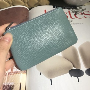 New Ultra-thin Mini Women Coin Purse Genuine Leather Key Wallet Multifunction Ziper Lady Short Wallet for Credit Card Key Chain(China)