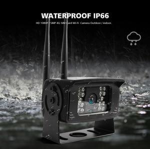 Image 4 - Беспроводная камера видеонаблюдения 3G, 4G, Sim карта, 1080P, 5 Мп