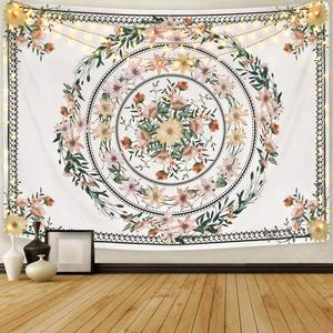 LUCKYYJ Tapestry Floral Medall