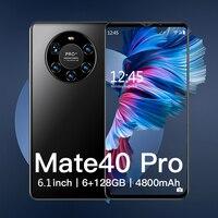 Hawei Mate 40 Pro versione globale 5G rete 6.1 pollici Smartphone 4800mAH telefoni cellulari Android 6GB 128GB Smartphone cellulari celular