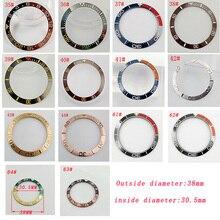 Inserção de moldura de 38mm, moldura de cerâmica preta/de titânio/aço inoxidável para homens 40mm parnis automáticos relógio de pulso
