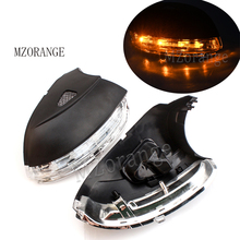 Rearview Mirror Turn Signal Light For Volkswagen Jetta MK6 Passat B7 CC Beetle Eos Scirocco with Yellow LED Lamp Wing Cover kibowear for vw passat cc jetta mk6 gli matte chrome side wing mirror cover caps fit vw passat b7 scirocco beetle silver