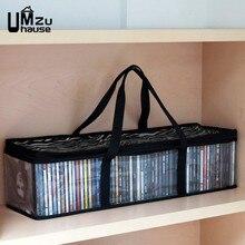Grandes livros sacos de armazenamento cd armário gabinete organização do escritório portátil transparente bolsas bolsa organizadores grande salvar bolso