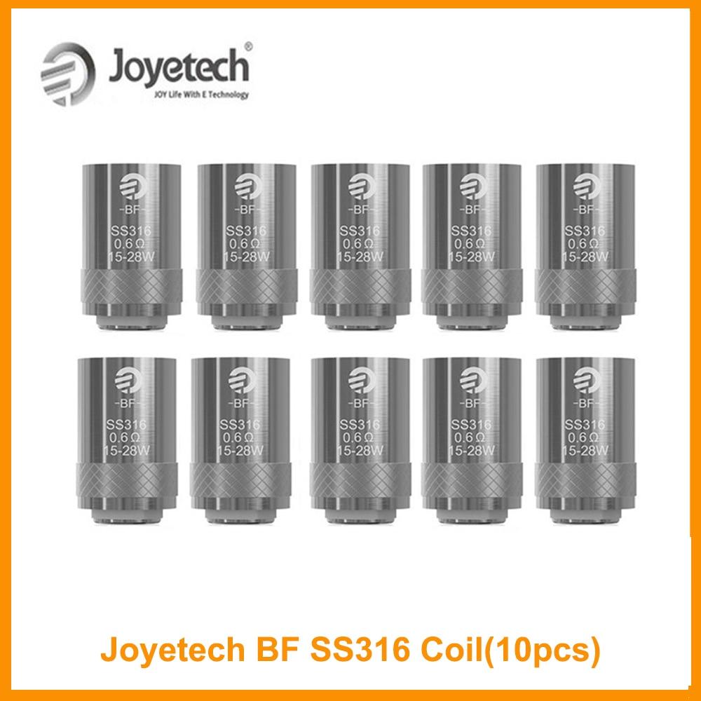 10PCS Original  Joyetech BF SS316 Head Ego Aio Coil 0.5/0.6/1.0ohm For Cubis Pro/ EGo Aio/Cuboid Mini E-Cig