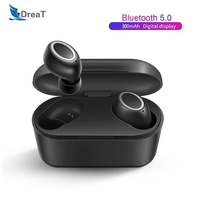 Mini TWS Headphones Bluetooth Earphone 3D True Wireless Stereo Earbuds With Mic Portable HiFi Deep Bass Sound Cordless Headsets